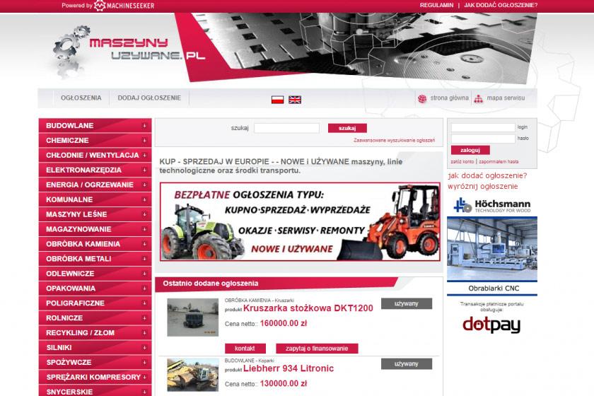 MaszynyUzywane Machineseeker.pl